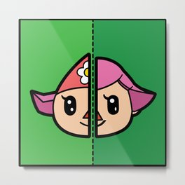 Old & New Animal Crossing Villager Female Metal Print