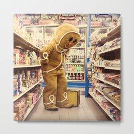 Gingerbread Man At Large Pt2 Metal Print