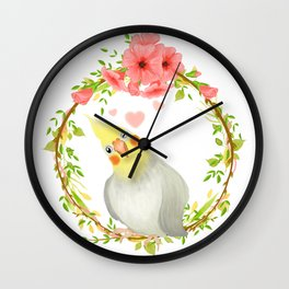 With Love From The Sweetest Cockatiel Wall Clock