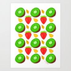 Strawberry Kiwi Art Print