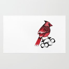 Cardinal and knuckle duster Rug