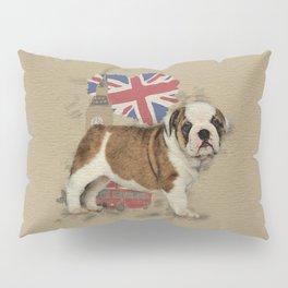 English Bulldog Puppy Sketch Pillow Sham