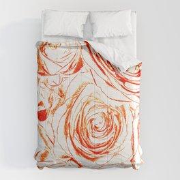 Roses // Wedding Flowers, Abtract Minimalist Art Comforters