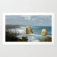 Gigantic Rock Stacks Art Print