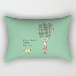 Angry ball Rectangular Pillow