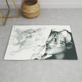 Crystal Castles Cat drawing Rug