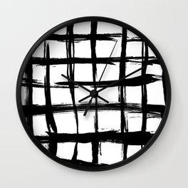 Brush plaid Wall Clock
