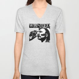Wanted - Man With Drink Unisex V-Neck
