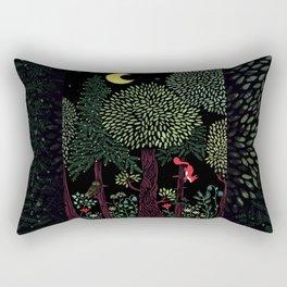 Into The Woods At Night Rectangular Pillow