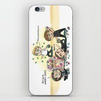 cyrilliart iPhone & iPod Skins featuring Flower Fight by Cyrilliart