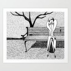 Patiently waiting for Spring Art Print