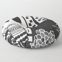 Black and white landscape Floor Pillow