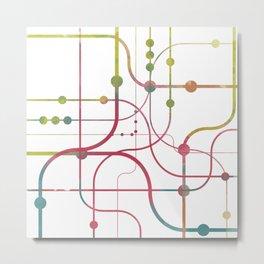 Line x Line-BubblegumPop-B Metal Print