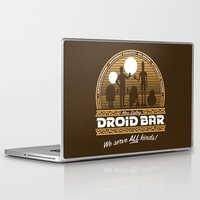 bar Laptop & iPad Skins featuring Droid Bar by Doodle Dojo