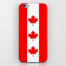 Canadian National flag, Authentic color and 3:5 scale version iPhone & iPod Skin