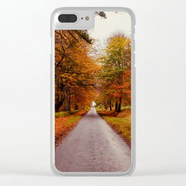 Autumn Road II Clear iPhone Case