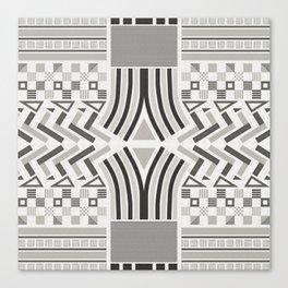 Festive pattern (black & white) Canvas Print