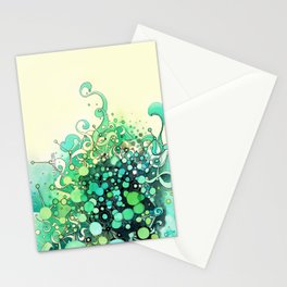 Visible Connections - Watercolor and Pen Art Stationery Cards