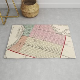 Vintage Map of Sacramento CA (1873) Rug