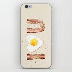Bacon and Egg I love You Breakfast Food I heart iPhone & iPod Skin