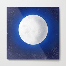 Full Moon in the Beautiful Night Sky  Metal Print