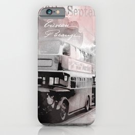 Vintage England London Britain Illustration Pastel Colors iPhone Case