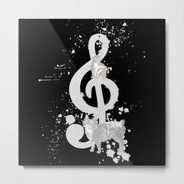 Music Cats Treble Clef Gift Metal Print