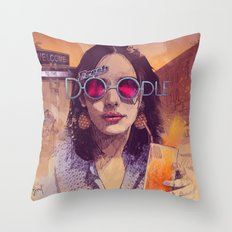 Welcome to the Fresh Doodle Throw Pillow