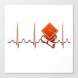 Student Heartbeat Canvas Print