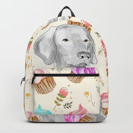 CUPCAKES AND WEIMARANER Backpack