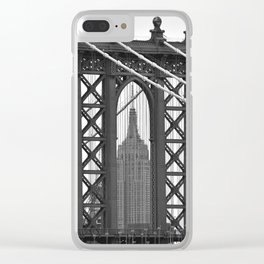 Empire State Building Photography Black & White Empire State Building Contest finalist Clear iPhone Case