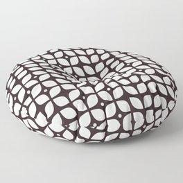 Mid century modern geometric tulip Floor Pillow