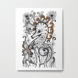 Empowered Seahorse Metal Print