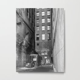 Back Alley in New York Metal Print