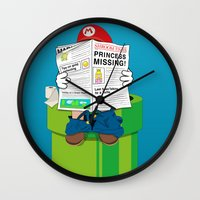 mario Wall Clocks featuring Mario by Altay