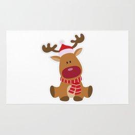 Christmas Deer Cute And Funny Shirts Rug