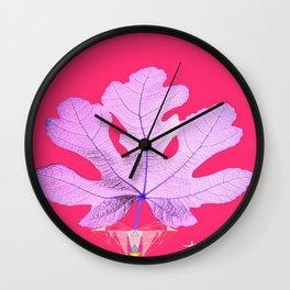 Fig Leaf Diamond Heart Christmas Wall Clock