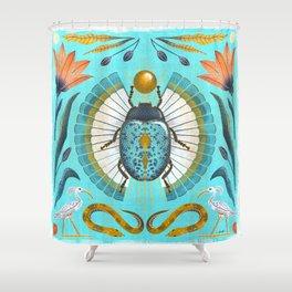 Egyptian Scarab Shower Curtain