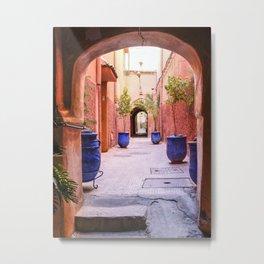 Beautiful street in Marrakesh, Morocco Metal Print