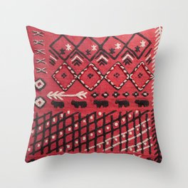 V22 Sheep herd Design Traditional Moroccan Carpet Texture. Throw Pillow
