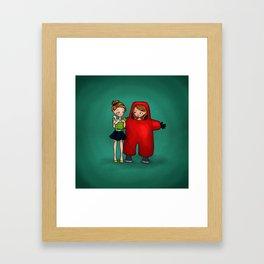 Toxic Friendship Framed Art Print