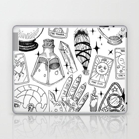 Fortune Teller Starter Pack Black and White Laptop & iPad Skin