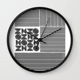 Geometric Block Design Wall Clock