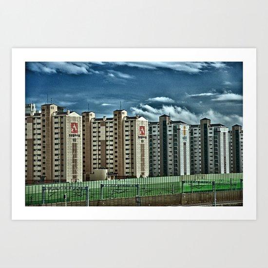 View from a Korean Bullet Train Art Print