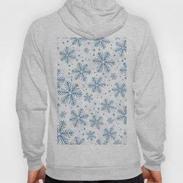 Blue snowflakes pattern Hoody
