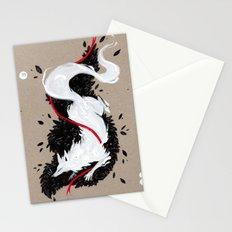 WHITE FOX RIBBON Stationery Cards