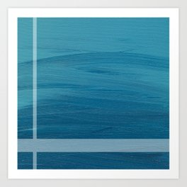 Calm Waters (Blue) Art Print