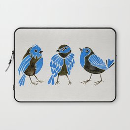 Blue Finches Laptop Sleeve