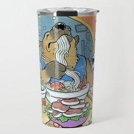 Dogs Eating Ramen Travel Mug