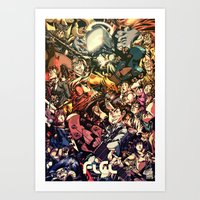 flcl Art Prints featuring FLCL - Phallic Symbol by DA Productions